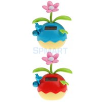 rabat tactile pour enfants achat en gros de-Grossiste-mignon solaire Powered Flip-rabat Dancing Flower Home Car Ornement Kids Toy