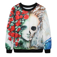 alternative coats - Blasting paragraph Star sweater quality digital printing alternative skull sweater personalized couple autumn coat SJMD07