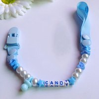 beard beads - Fashion Baby Pacifier Clip BPA Free Anti lost Beads Pacifier Clips for Dummies Beard Chains for Children Baby Pacifier Holder