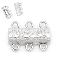 Wholesale 5PCs Magnetic Clasps Jewellery Findings Silver Tone mmx14mm