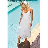 beach wedding dress styles - Bohemian Beach Wedding Dresses Halter Neck Tea Length Cheap Wedding Gowns Summer Boho Style White Chiffon Bridal Gowns Custom Made