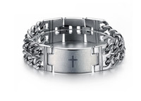 biblical jewelry - hot sale stainless steel jewelry fashion Spain biblical Lord pray anti rust titanium steel chain link chain bracelets for men