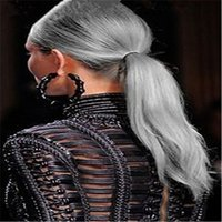 Wholesale Grey Ombre Wig Human Hair Full Lace Wigs for Black Women quot quot Long Straight Natural Cheap Hair Glueless Front Lace Wigs