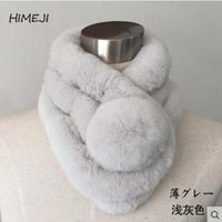 angora scarf - The new female winter fur scarf thickened section rabbit hair scarf Angora fur collar all match warm