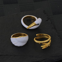 Wholesale 3pcs set Cute Squirrel Swan Finger Rings Midi Knuckle Alloy Rings For Women Fashion Jewelry Punk Style Animal Ring Set