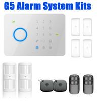LS111- 182kits - 315Mhz CHUANGO G5 GSM SMS Casa de alarma de seguridad contra robo de seguridad con etiqueta RFID, sensor de humo de control de acceso