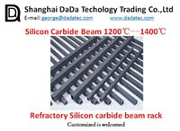 Wholesale Refractory Silicon carbide square beam refractory kiln furniture supplier China Silicon carbide tube refractory kiln furniture supplier