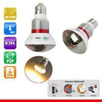 Wholesale 785YM Home Mirror Bulb Lamp HD P WiFi P2P IP Network DVR Camera with Watt Warm Bulb Light Surveillance Camera