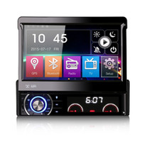 automatic player - Hot Inch Din Car DVD GPS Radio Player Automatic Retractable Touch Screen Removable Panel Anti theft Mirror Link colors light Universal
