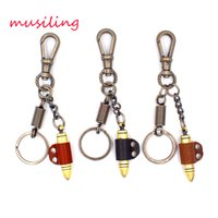 antique european jewelry - Leather Key Chain Bullet Key Rings Car Key Rings Material Antique Copper Alloy Pendant Vintage European Charm Jewelry Mix