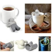 Wholesale 2016 Mr tea fred Teapot cute Mr Tea Infuser silicone infuser CM DHL