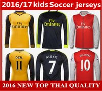 arsenal blue jersey - 2017 mens ArsenalS Long sleeves shorts OZIL WILSHERE RAMSEY ALEXIS Soccer Jerseys ArsenalS MEN best Thai Quality football shirts