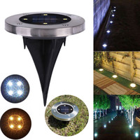 parcours paysager achat en gros de-Solar 4 LED Outdoor Path Light Spot Lampe Yard Garden Lawn Landscape IP65 Waterproof Yard Driveway Lawn Pathway Solar Light