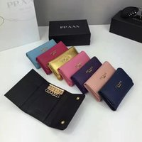 Wholesale good quality original new imported leather wallet Europe and the United States brand short wallet fashion key bag with box