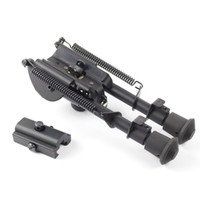 Wholesale 6 quot quot Harris Style Tactical Bipod Levels Adjustable Spring Loaded Legs Heavy Duty Bipod