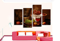 apple table decorations - LK4234 Panel Canvas Paintings Wine And Fruit Grape Apple On Table Wall Art Decoration Modern Pictures Print On Canvas For Home Bar Hub