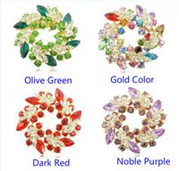 Asian & East Indian bauhinia crystal gifts - 2017 Elegant Ladies Girls Flashing Rhinestones Crystals Diamond Bauhinia Flower Dress Pins Chinese Redbuds Brooches Corsage Pin Clips Y083