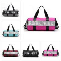 Wholesale Clothing Waterproof Woman - Fedex DHL Free Fashion Women Handbags Love VS Pink Large Capacity Travel Duffle Striped Waterproof Beach Bag Shoulder Bag B989-1