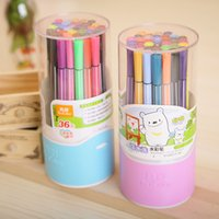 Wholesale 2017 Colors Water Color Pen Brush Marker Highlighter For Kids Stationery Copic Markers Art Supplies School Washable