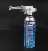 Wholesale New Kitchen Torch Jet C Butane Lighter Gas Refillable Fuel Welding Soldering AM windproof smoking Cigar lighter pc