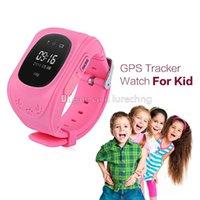 Q50 Enfants Smart Watch GPS LBS Double Localisation Sécuritaire Enfants Activité Tracker SIM Quadri-bande GSM SOS Safe pour Android et IOS LCD / OLED GW300