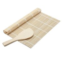 Wholesale Kitchen Accessories Sushi tools Rolling Roller Bamboo Material Mat Maker DIY and A Rice Paddle Cooking Tools