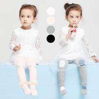0-2T baby pants pack - Child s Leggings Short Leg Warmers Pack New South Korean Children Pantyhose Infant Baby Leggings Can Open Fork Open Seat Pants