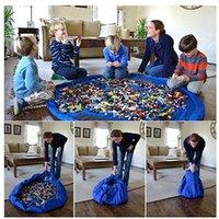Portable 150cm Enfants Enfants Enfant Baby Play Mat Grand sacs de rangement Jouets Organisateur Couverture Couverture Rug Boxes pour tous les cadeaux Jouets