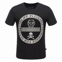 al por mayor hombre de la moda de marca camiseta-Camisetas de los hombres impresos del caballo del nuevo cráneo 3D Camisetas de los hombres de la medusa PLEIN-PHILIPP de la manera de los hombres de la manera de la marca de fábrica PP Mens