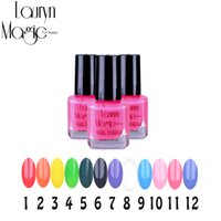 Wholesale Sweet Colors Nails - Wholesale-Lauryn magic for beauty 1 bottle 5ml Nail Art Polish Newly Sweet Style Nail Polish Candy Colors Nail polish