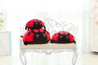 beetles movies - High quality pc50cm creative doll gifts gifts Lady beetle plush toys Cute beetle lie prone to lie prone doll