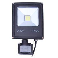 Venta al por mayor-20W impermeable PIR infrarrojo cuerpo del sensor de movimiento LED Spot inundación lámpara de luz blanca cálida luz de inundación blanca