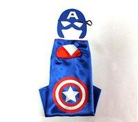 Wholesale Captain America kid superhero cape mask set