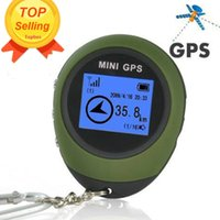 Wholesale Mini GPS Tracker Tracking Device Travel Protable Keychain Locator Pathfinding Outdoor Sport Handheld Keychain