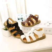 Unisex Ankle-Wrap PU New arrival Children's Sandals PU The Beach Child Shoes Baby Boy Summer Sandals Baby Toddlers Shoes