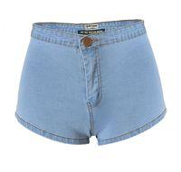 Wholesale 2017 European Super sexy high waisted shorts night mooning blue denim shorts have larger size