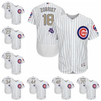Wholesale 2017 chicago cubs jersey champion gold cubs dawsom baez samto SCHWARBER BAMKS GRACE ZOBRIST white stripe cool baseball majestic jersey