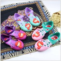Wholesale Cute Baby Princess Shoes New Summer Girls Cartoon Soft Bottom Sandals Kids Breathable Princess Sandals Children Beach Shoes pairs