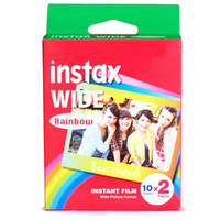 Wholesale Hot Selling Instant Photos Rainbow Instax Wide Film Polaroid Camera Wide Camera Special Film Paper Film Photography Color Instax Wide