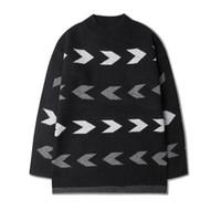 Nouvelle femme jersey France-Vente en gros- Nouveau 2016 Automne Hiver Hommes Femmes Hommes Géométriques Harajuku Pulls Pullovers Coréenne Vintage Geometry Jersey Pulls Pour Couples