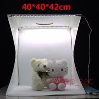40CM Photo Studio Flash Diffuseurs Portable Mini Kit de Photographie Light Box Softbox Photographique avec Backdrops photo lumière tente