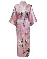 batik robes - Brand New Wedding Bride Bridesmaid Robe Satin Rayon Bathrobe Nightgown For Women Kimono Sleepwear Flower Plus Size S XXXL