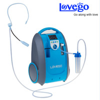 Wholesale Two Lithium DC Batteries Oxygen Concentrator for Medical Healthcare Home Car Travel Use Mini Portable O2 Generator Free shiping