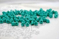 Wholesale Baby Bell Flowers x6mm Color Turquoise Czech glass beads jewelry accessory