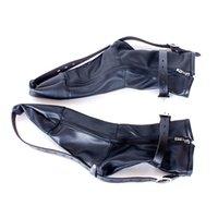 Wholesale Davidsource Black Leather Feet Binding Kit Adjustable Lockable Positioning Submissive Slave Pig Fantasy Punish BDSM Sex Product
