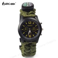 best compass - Survival Watch Paracord Survival Gear Adjustable Paracord Watch with Fire Starter Whistle Compass Best Survival Gear