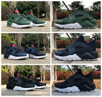 Nuevo aire Huarache 4 IV Ultra refleja los zapatos corrientes para los hombres de cuero de las mujeres Huaraches para hombre negro azul oscuro azul Huraches Deportes Zapatillas de deporte 36-46