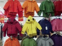 Wholesale Child Duck Down Hooded Feather Boy Girl Coat Winter Warm Unisex Jacket Packable Multi Colors Available