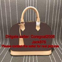 Totes bell bags - Alma L M53151 PM MM BB key bell GARANCE Rubis kaki womens genuine VERNIS leather handbag tote shell bag luxury boston M42401 M90169