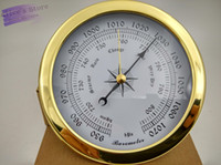 Wholesale 4 set Brass Case Traditional Weather Station Barometer Temperature Hygrometer Humidity and Clock mm Large size B9145